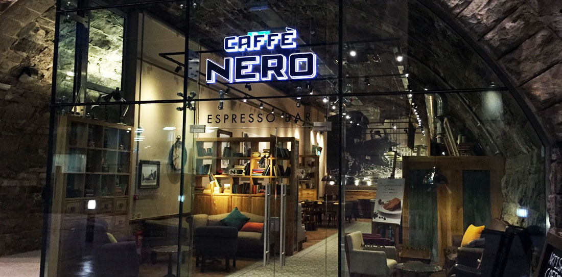 caffe nero interior designed by bedrock